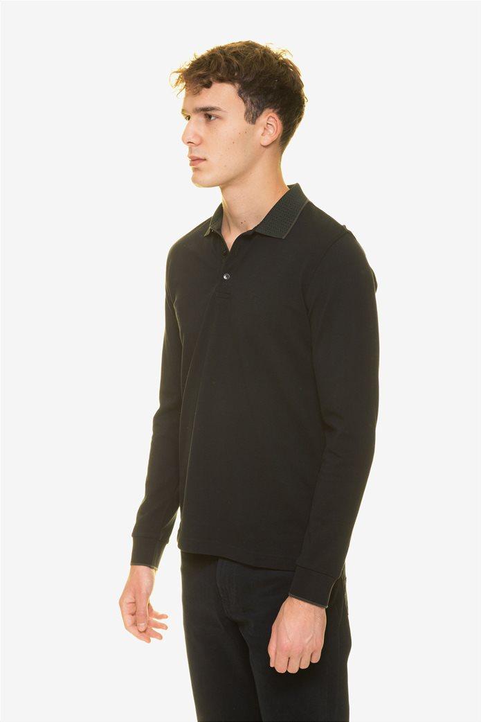 The Bostonians ανδρική μπλούζα πόλο με μικροσχέδιο στον γιακά 2
