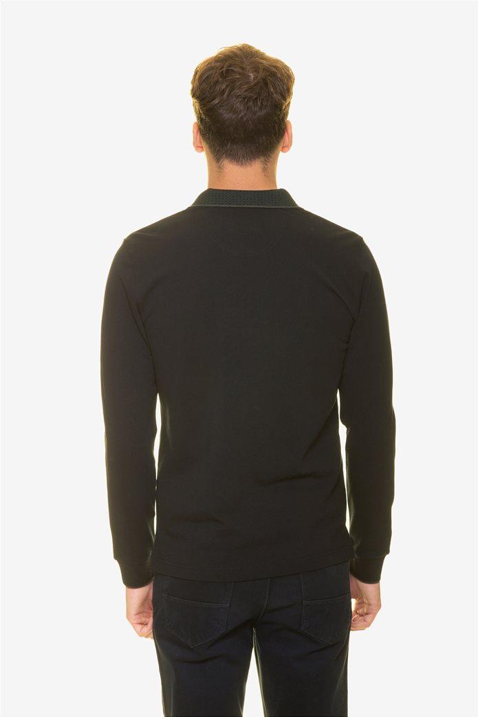 The Bostonians ανδρική μπλούζα πόλο με μικροσχέδιο στον γιακά 3