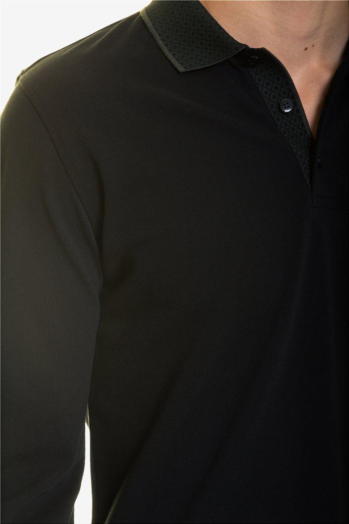 The Bostonians ανδρική μπλούζα πόλο με μικροσχέδιο στον γιακά 4