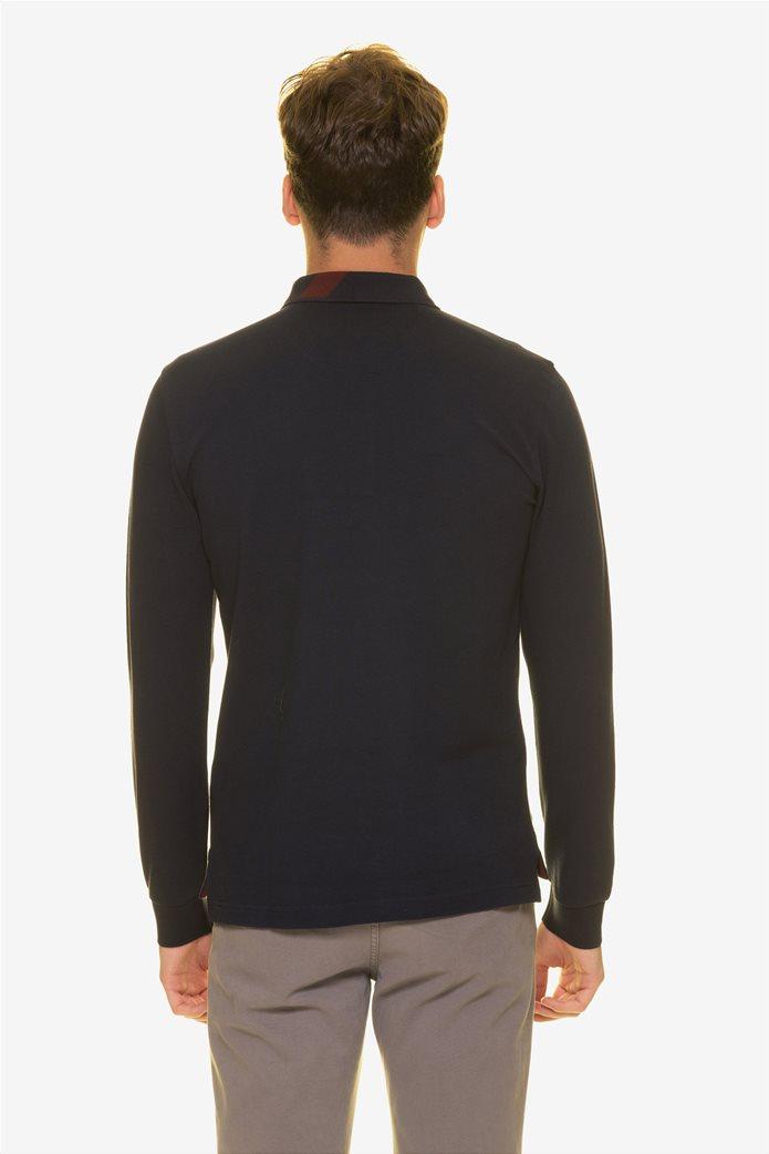 The Bostonians ανδρική μπλούζα πόλο με τυπωμένο λογότυπο 3