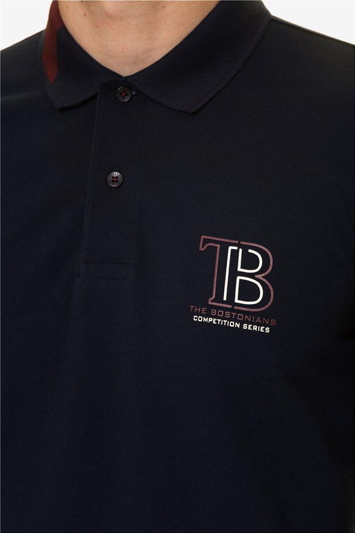 The Bostonians ανδρική μπλούζα πόλο με τυπωμένο λογότυπο 4