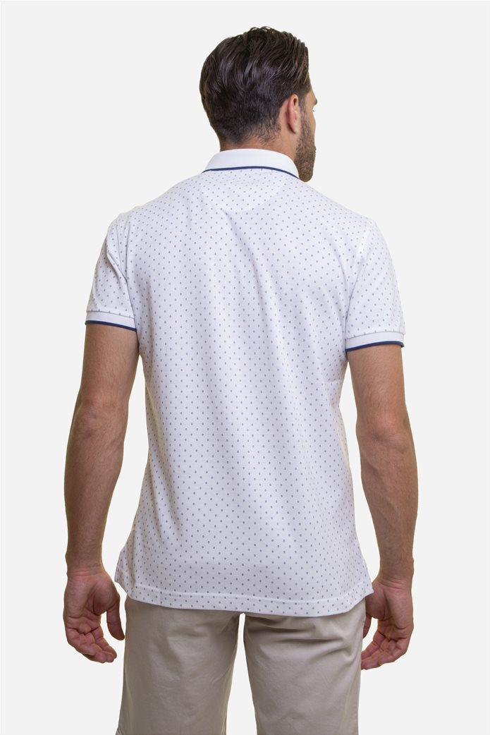 The Bostonians ανδρική μπλούζα πόλο με πουά μικροσχέδιο Μπλε Σκούρο 4