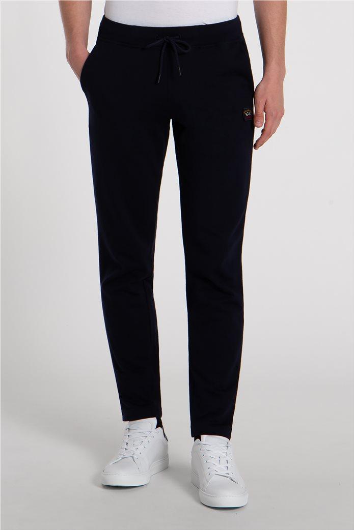 Paul&Shark ανδρικό παντελόνι φόρμας με logo patch Σκούρο Μπλε 1
