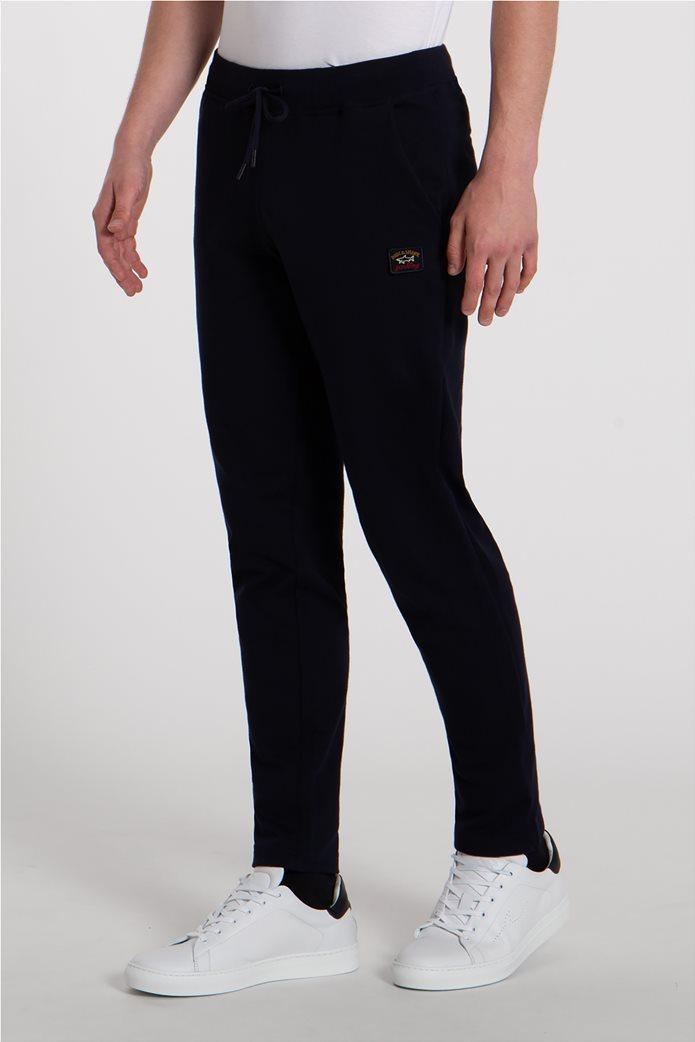 Paul&Shark ανδρικό παντελόνι φόρμας με logo patch Σκούρο Μπλε 2