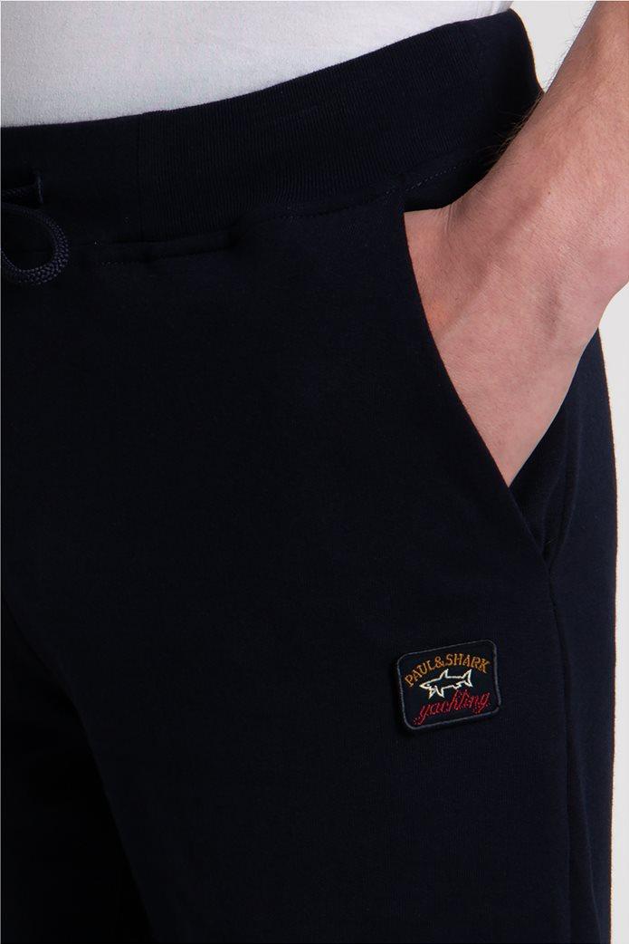 Paul&Shark ανδρικό παντελόνι φόρμας με logo patch Σκούρο Μπλε 4