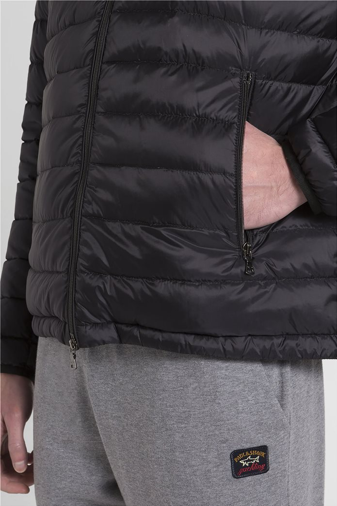 "Paul&Shark ανδρικό μπουφάν καπιτονέ με κουκούλα ""Ultralight"" (3XL) Μαύρο 4"