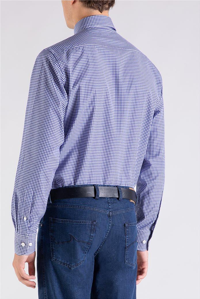 Paul&Shark ανδρικό πουκάμισο καρό με κεντημένο λογότυπο Μπλε 3