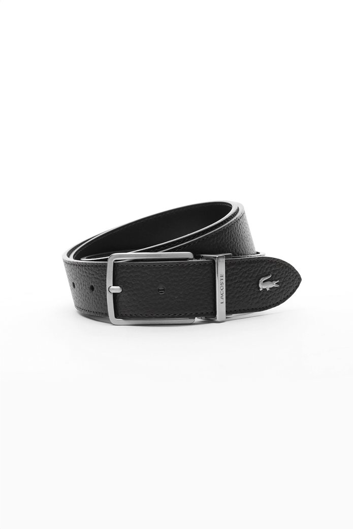 """Lacoste ανδρική δερμάτινη  """"Engraved Buckle Grained"""" 0"""