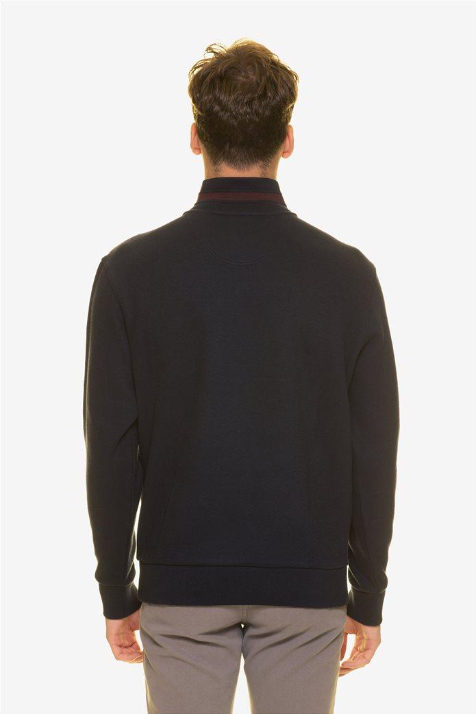 The Bostonians ανδρική μπλούζα φούτερ με φερμουάρ 3/4 3