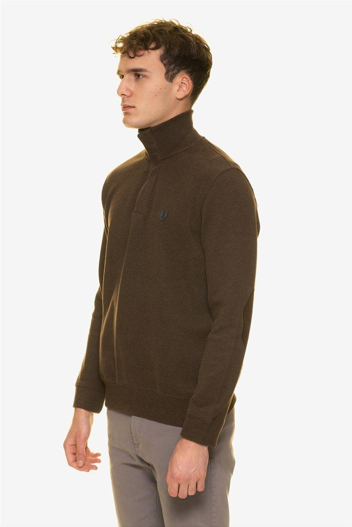 The Bostonians ανδρική πλεκτή μπλούζα με φερμουάρ ¾ 2