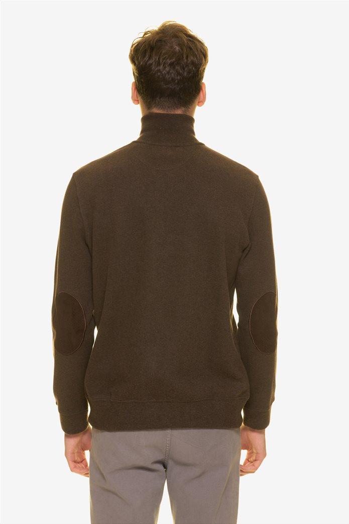 The Bostonians ανδρική πλεκτή μπλούζα με φερμουάρ ¾ 3