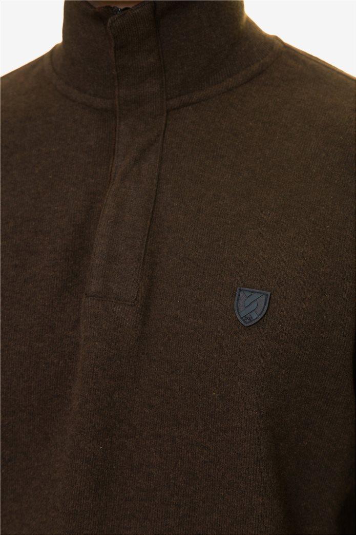 The Bostonians ανδρική πλεκτή μπλούζα με φερμουάρ ¾ 4