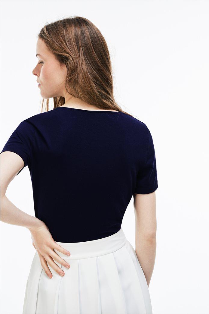 Γυναικείο T-shirt μονόχρωμο με στρογγυλή λαιμόκοψη  Lacoste 1