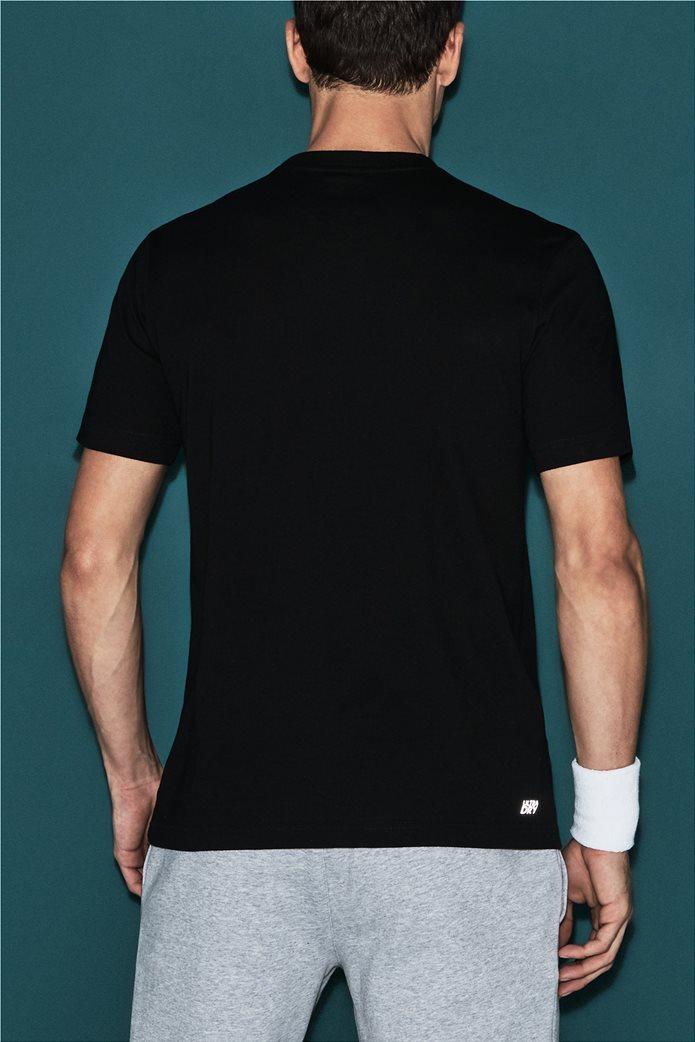 Ανδρικό tennis T-shirt μονόχρωμο με στρογγυλή λαιμόκοψη Lacoste 1