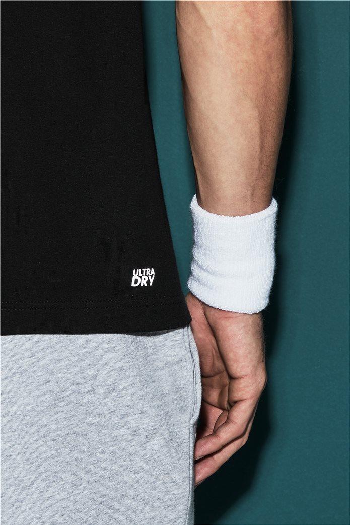 Ανδρικό tennis T-shirt μονόχρωμο με στρογγυλή λαιμόκοψη Lacoste 3