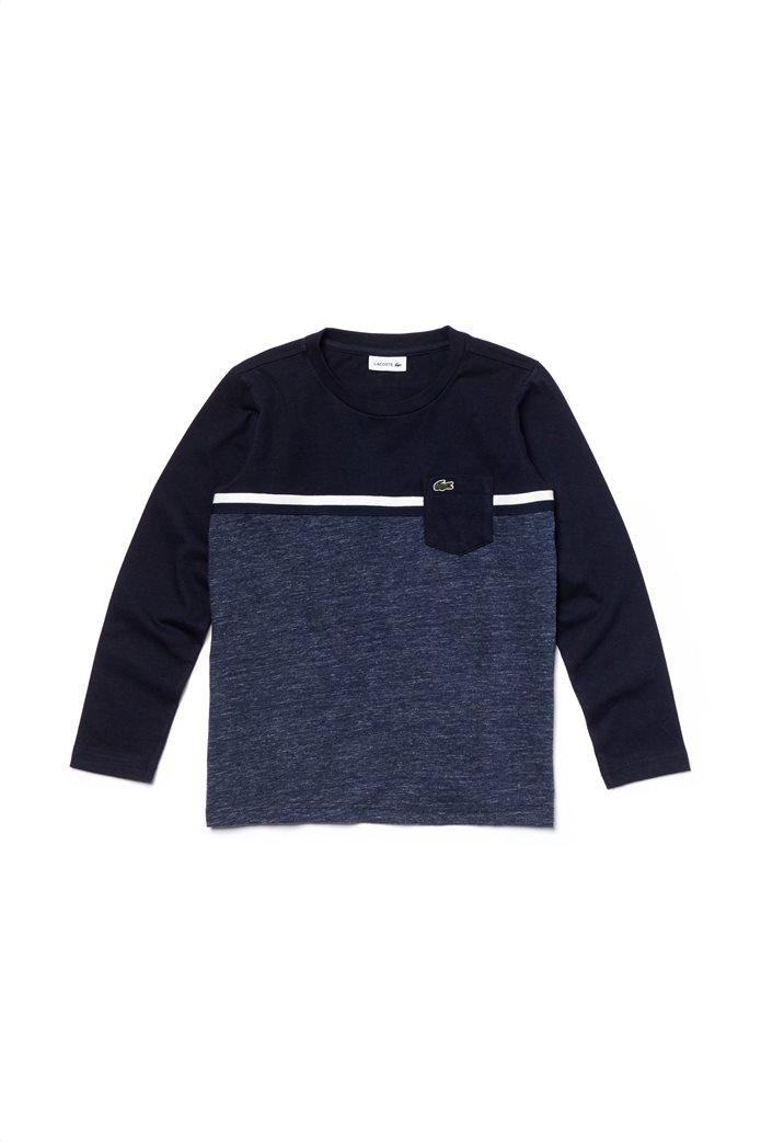 Lacoste παιδική μπλούζα colorblock με τσεπάκι 0