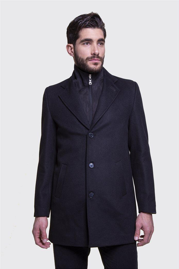 The Bostonians ανδρικό μάλλινο παλτό με επένδυση καπιτονέ 0