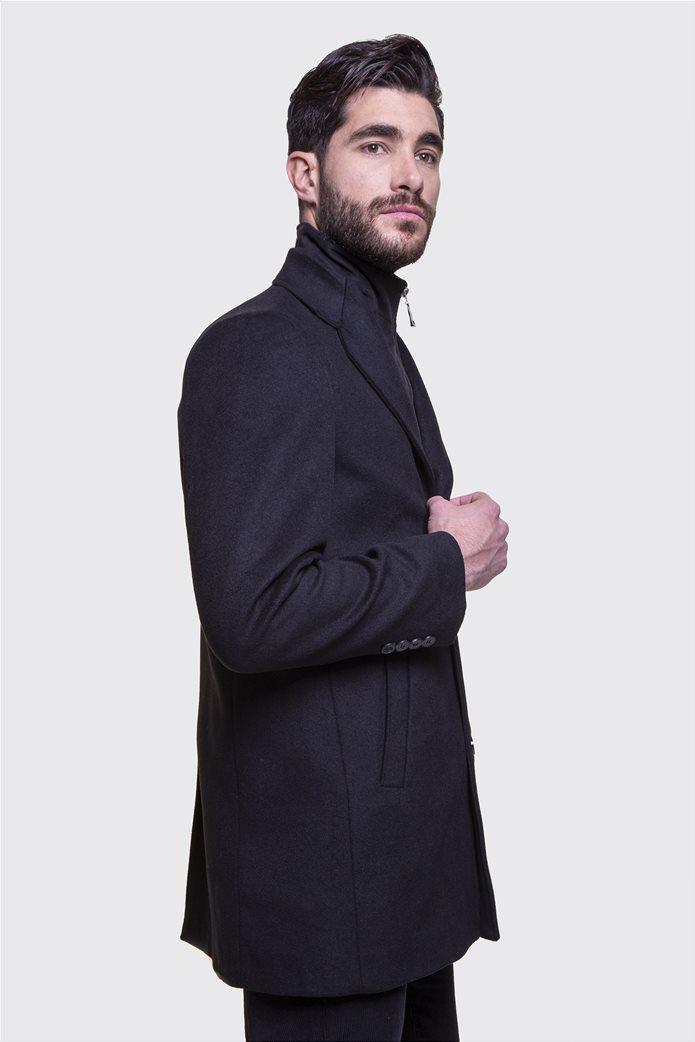 The Bostonians ανδρικό μάλλινο παλτό με επένδυση καπιτονέ 1