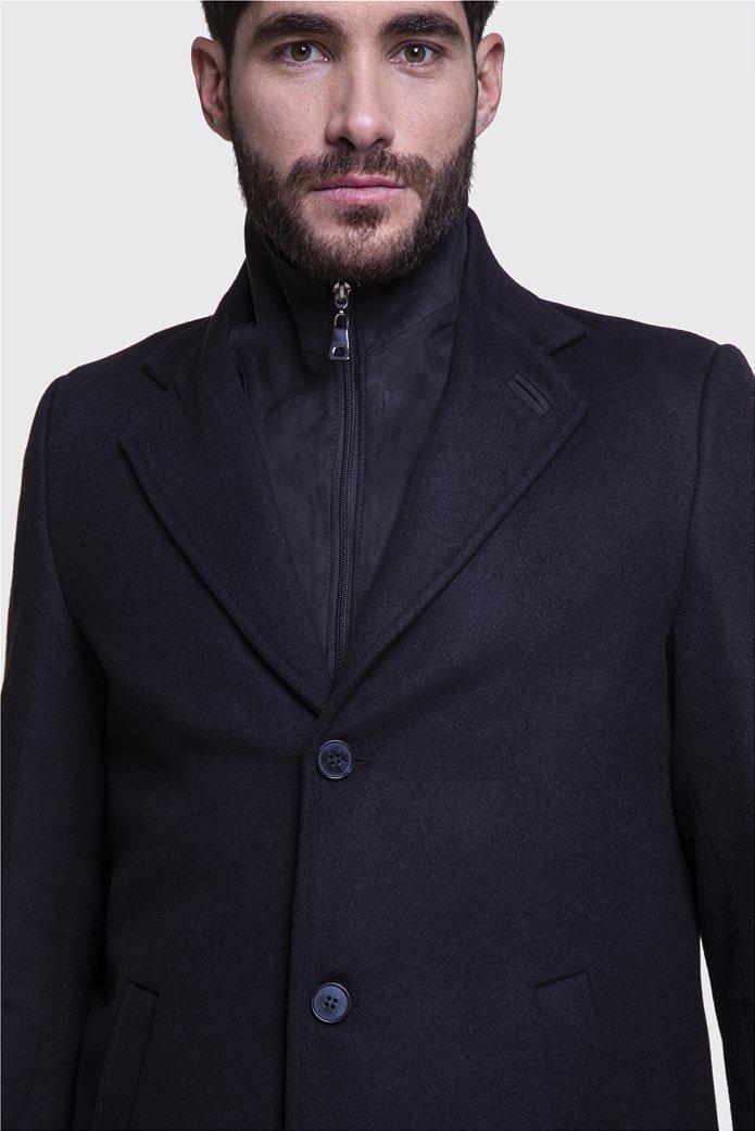 The Bostonians ανδρικό μάλλινο παλτό με επένδυση καπιτονέ 2