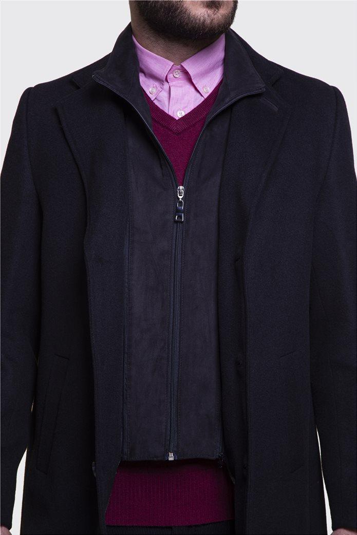 The Bostonians ανδρικό μάλλινο παλτό με επένδυση καπιτονέ 3