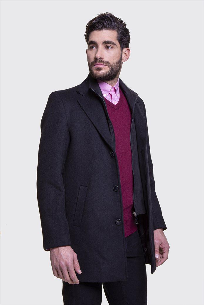 The Bostonians ανδρικό μάλλινο παλτό με επένδυση καπιτονέ 4