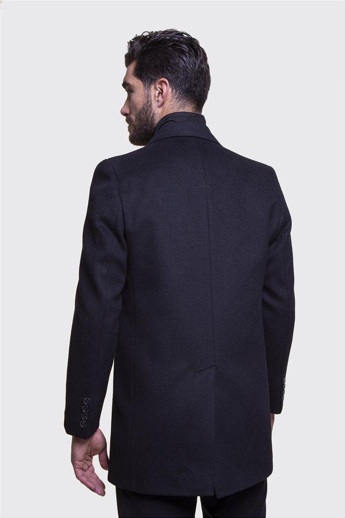 The Bostonians ανδρικό μάλλινο παλτό με επένδυση καπιτονέ 5