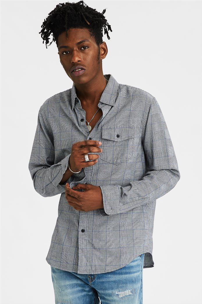 AE Brushed Twill Plaid Button Up Shirt 0