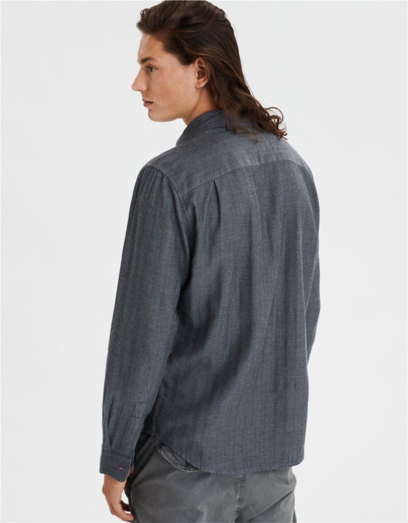 AE Brushed Twill Herringbone Button Up Shirt 1