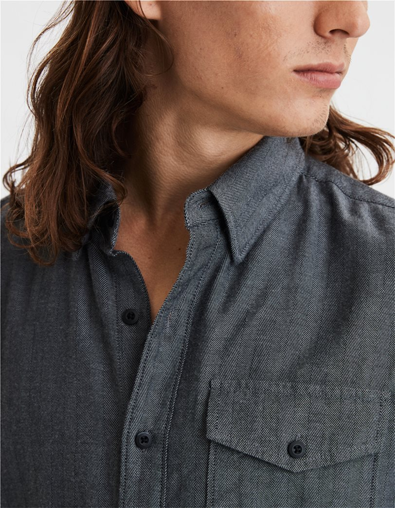 AE Brushed Twill Herringbone Button Up Shirt 2
