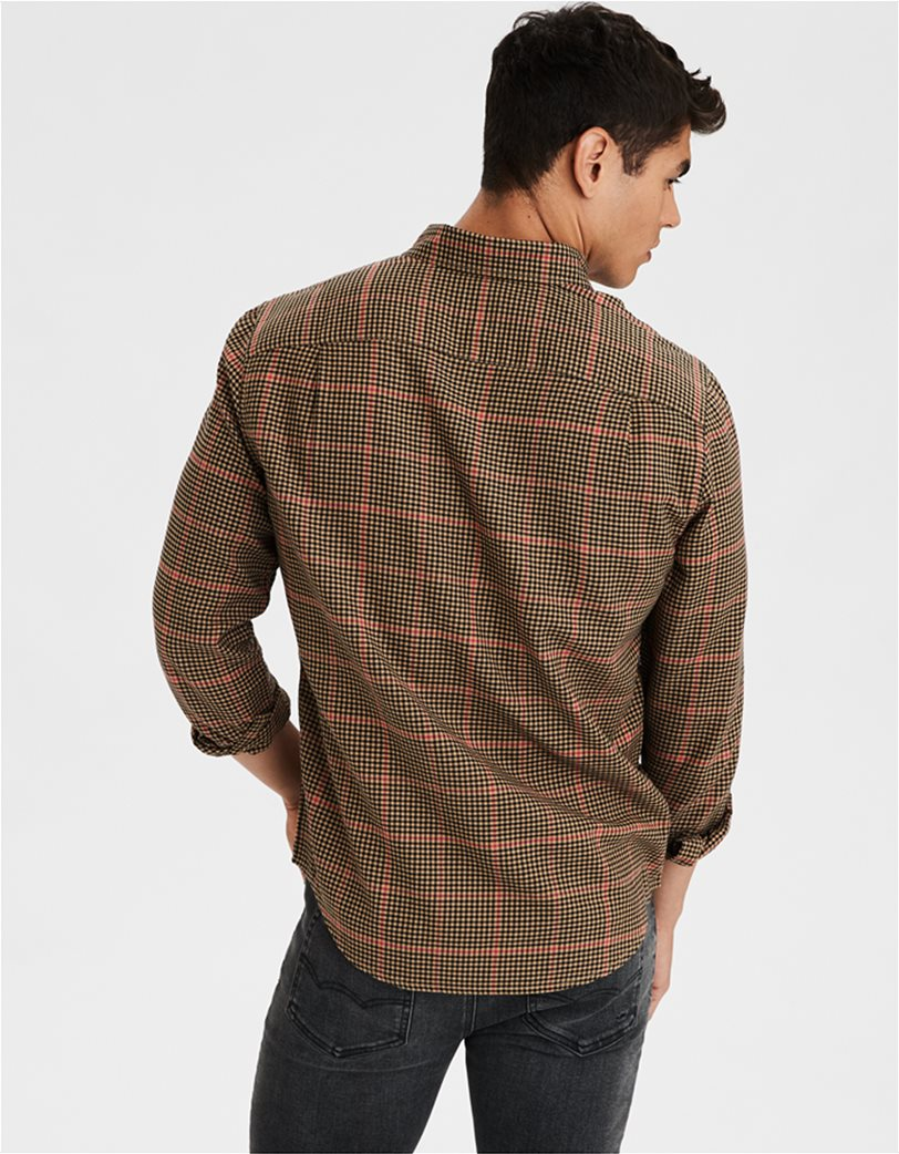 AE Brushed Twill Plaid Button Up Shirt 1