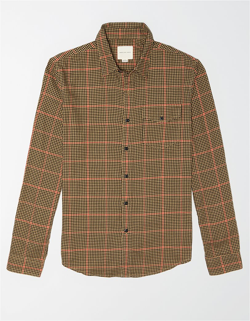 AE Brushed Twill Plaid Button Up Shirt 2