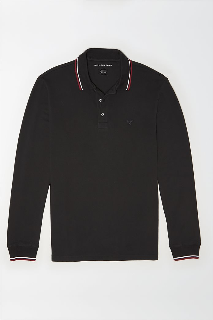 AE Long Sleeve Tipped Polo Shirt 0