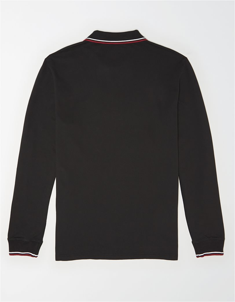 AE Long Sleeve Tipped Polo Shirt 1