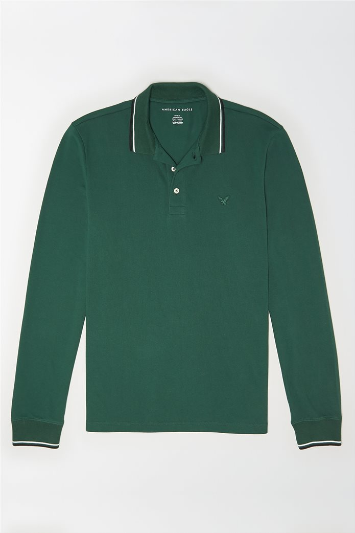 AE Long Sleeve Tipped Polo Shirt 0
