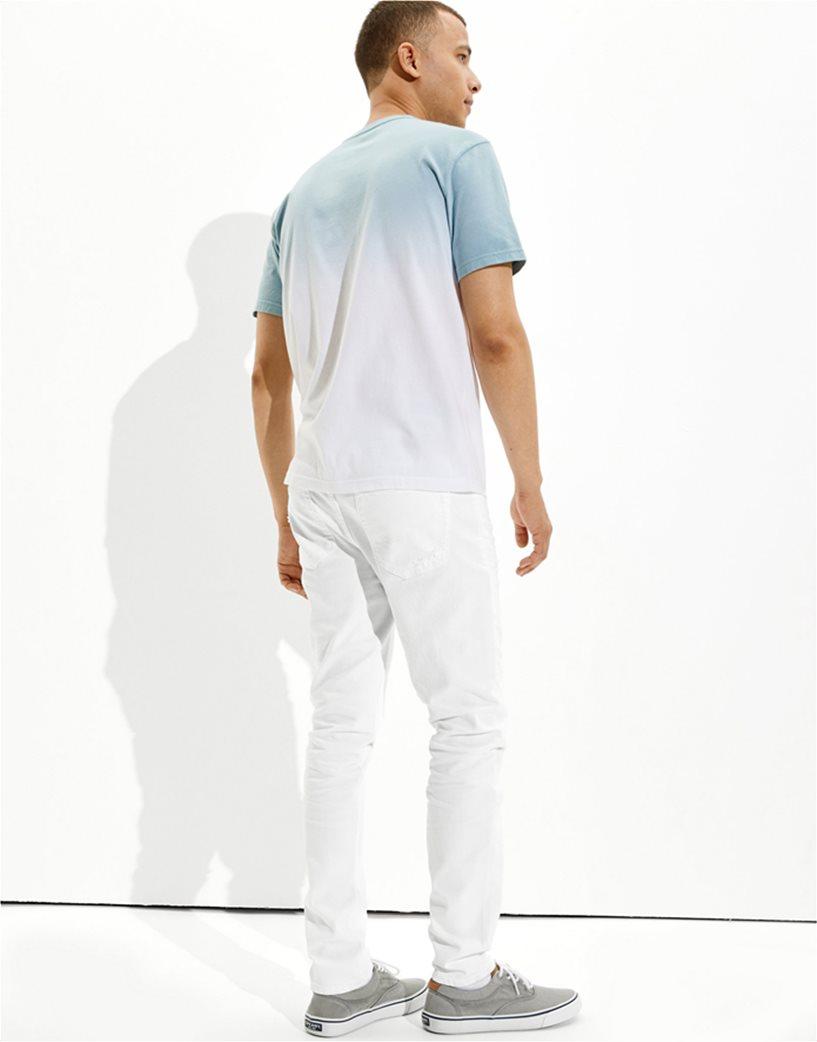 AE Dip-Dye Graphic T-Shirt Γαλάζιο 2