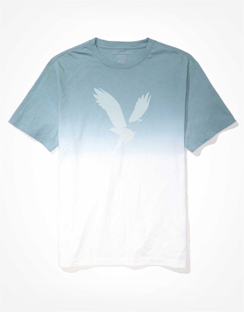 AE Dip-Dye Graphic T-Shirt Γαλάζιο 3