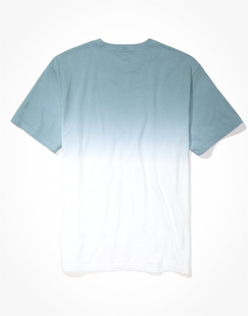 AE Dip-Dye Graphic T-Shirt Γαλάζιο 4