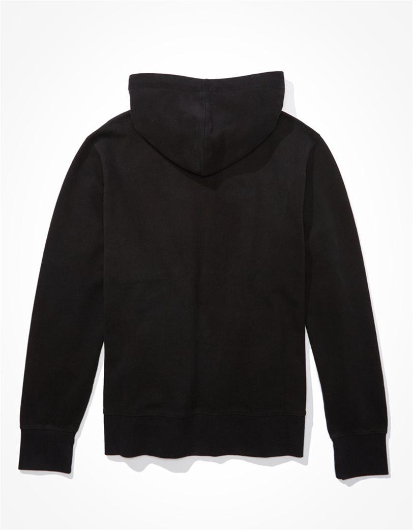 AE Branded Zip-Up Hoodie Μαύρο 1