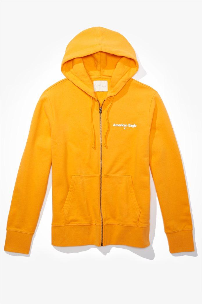 AE Branded Zip-Up Hoodie Κίτρινο 0