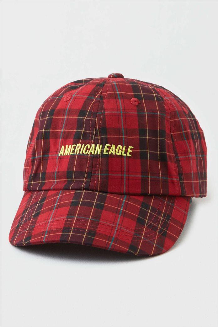 AEO Plaid Baseball Hat 0