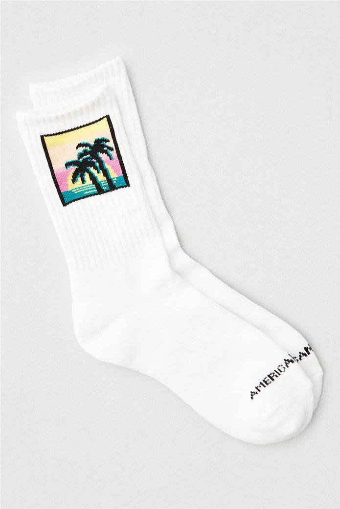 AEO Palm Tree Crew Sock Λευκό 0