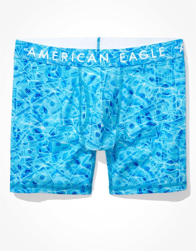 "AEO Pool Dollar Bills 6"" Classic Boxer Brief Γαλάζιο 2"