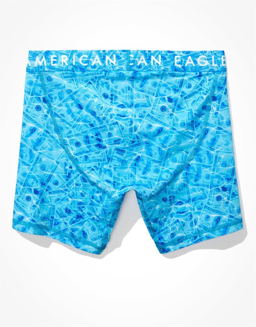 "AEO Pool Dollar Bills 6"" Classic Boxer Brief Γαλάζιο 3"
