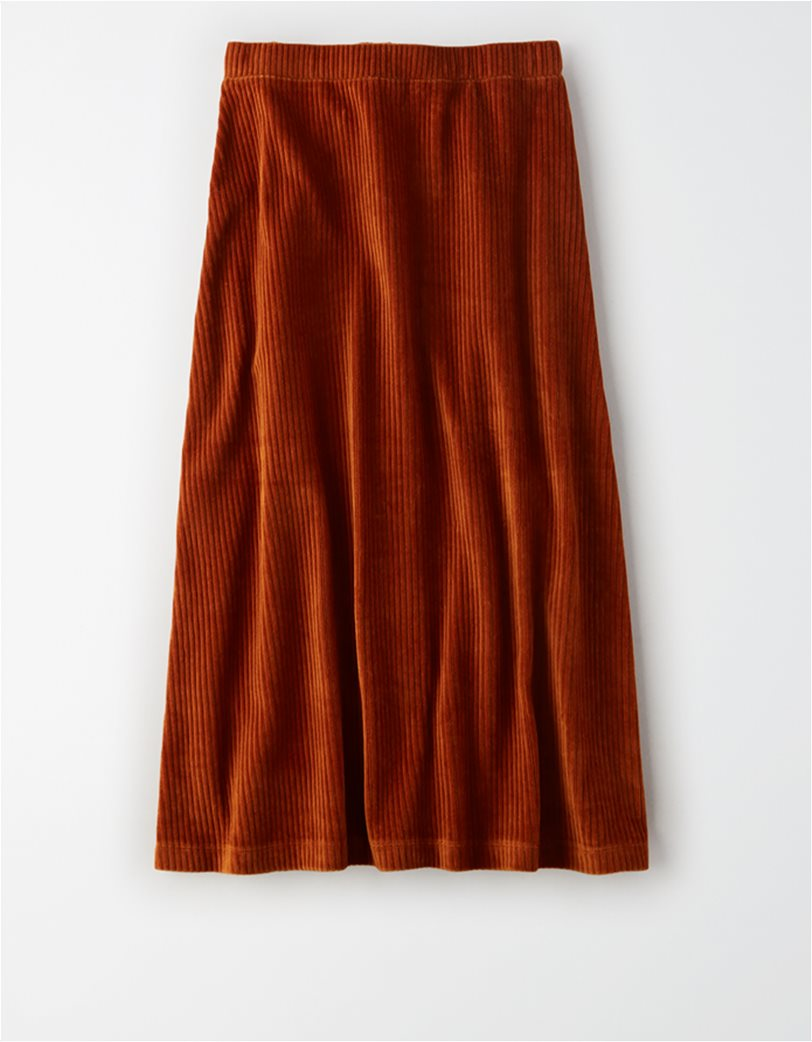 AE High-Waisted Corduroy Button Front Midi Skirt 4