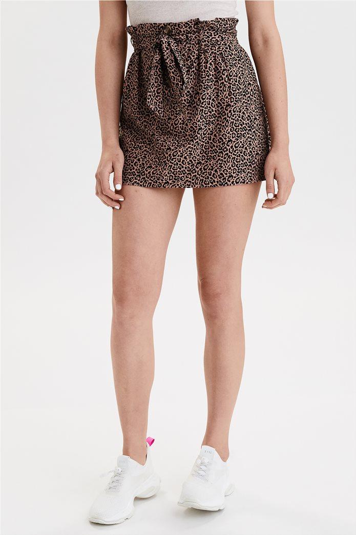 AE High-Waisted Paperbag Mini Skirt 0