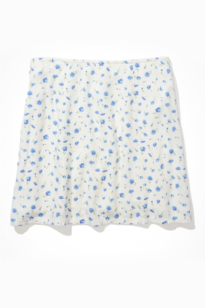 AE Floral Notched Mini Skirt Λευκό 0