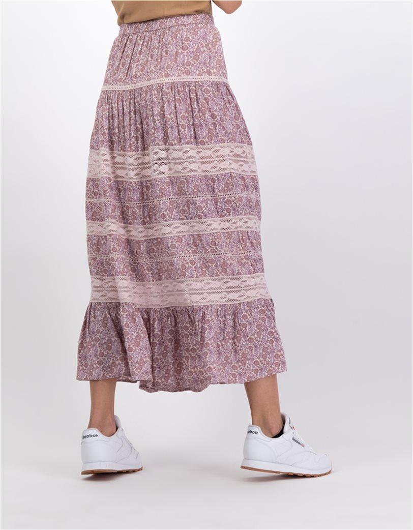 AE Tiered Midi Skirt Ροζ 1