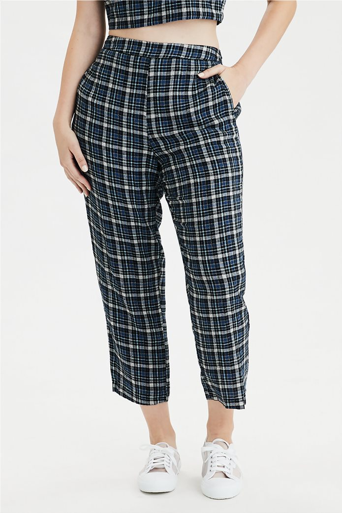 AE High-Waisted Plaid Taper Pant 0