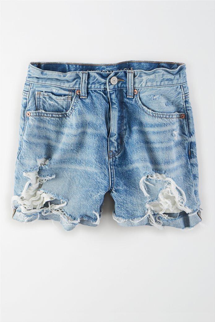 Denim Mom Shorts 0