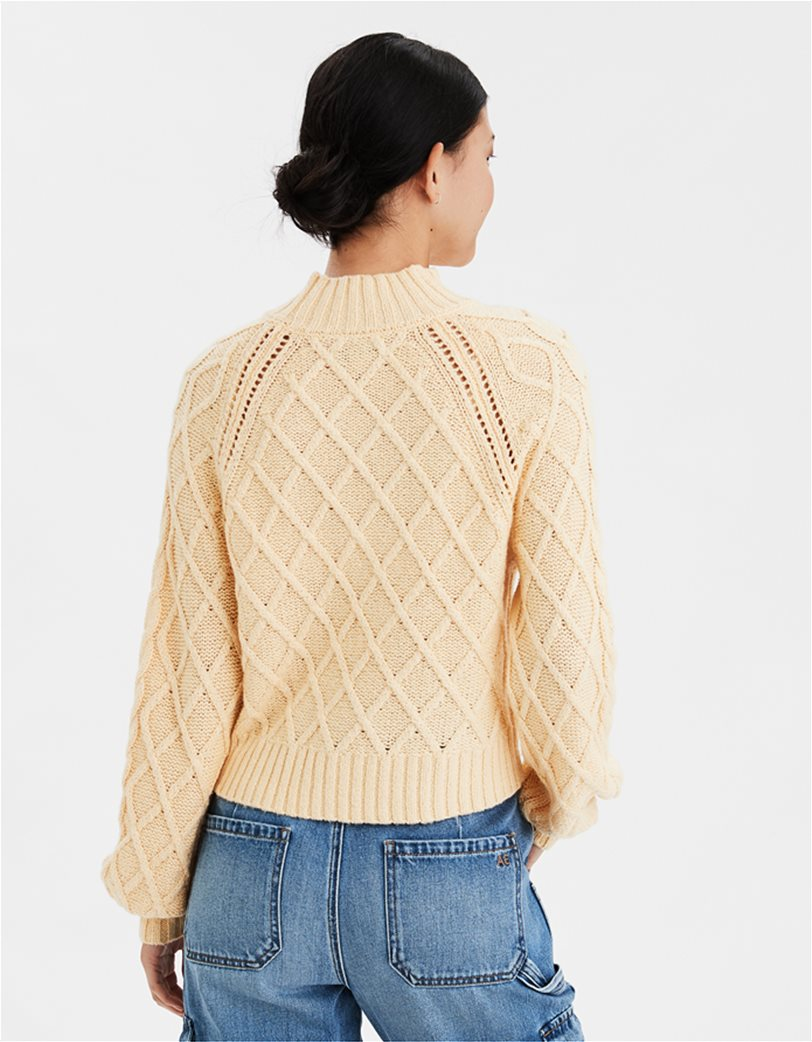 AE Mock Neck Cable Knit Sweater 1
